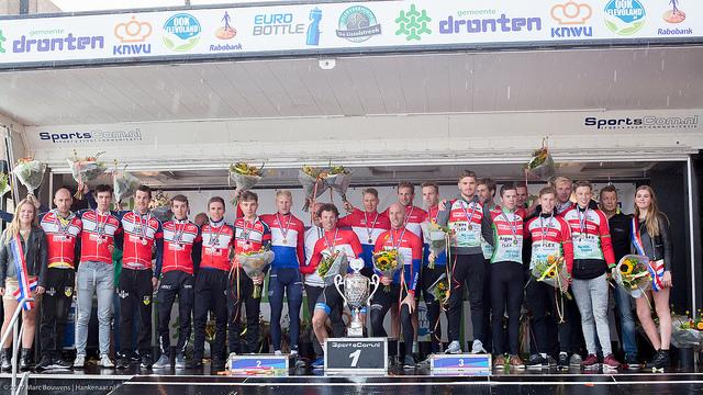Podium Elite Beloften WV De Jonge Renner zilver NCK Dronten 2017 website