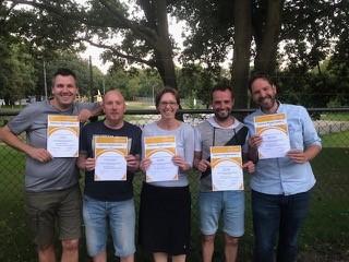 Vijf nieuwe KNWU-gekwalificeerde trainers bij MTB-afdeling